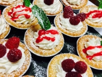 Mini Almond Raspberry Tarts